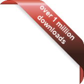 1 million downloads ribbon